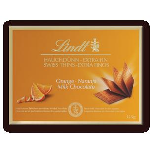 Lindt Thins Портокал 125 г